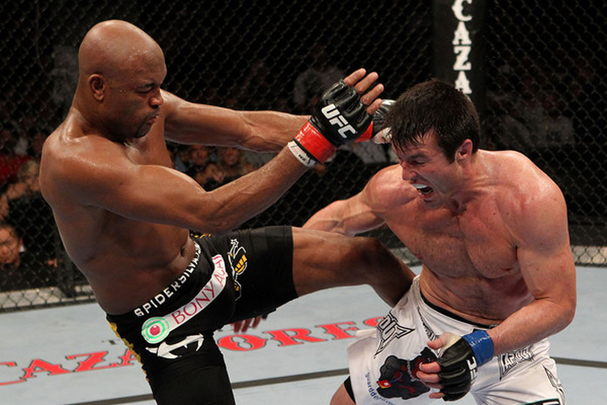Silva vs Sonnen: a famous example of mental strength being key