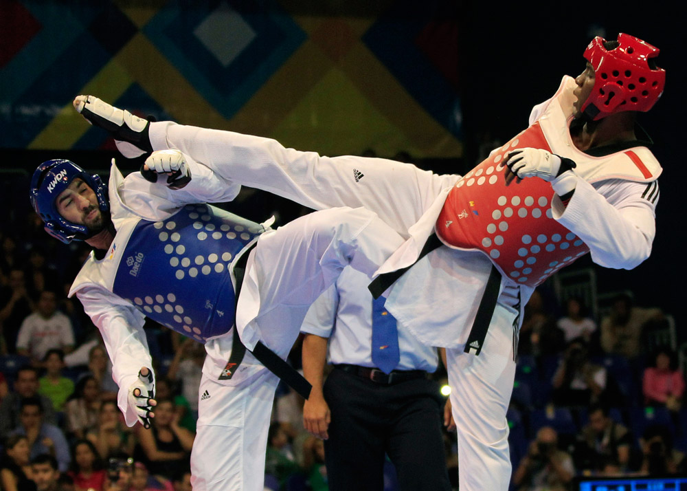 Taekwondo: why use your hands when you've got perfectly good legs?